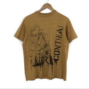 Vintage Contra Mustard Shirt / Medium
